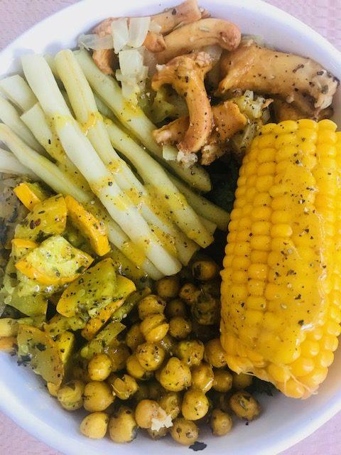 letnie żółte warzywa